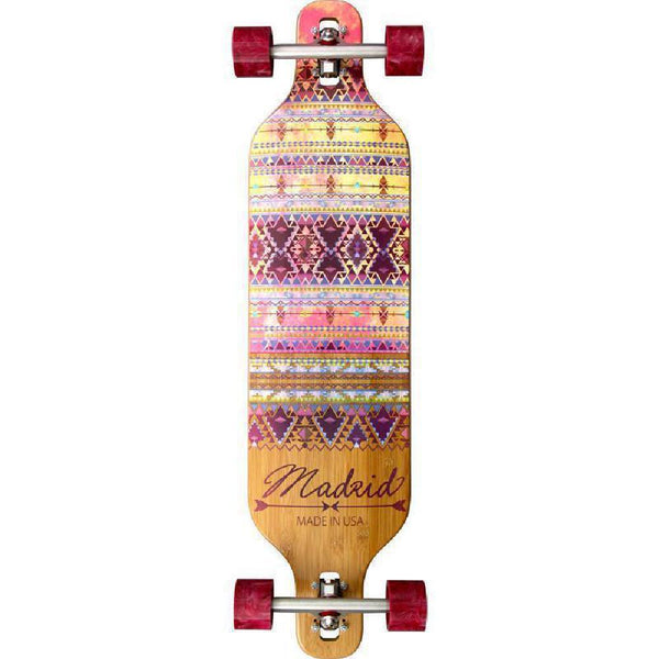 "Madrid Dream 39"" Indie Bamboo Drop-Thru Longboard - Longboards USA"