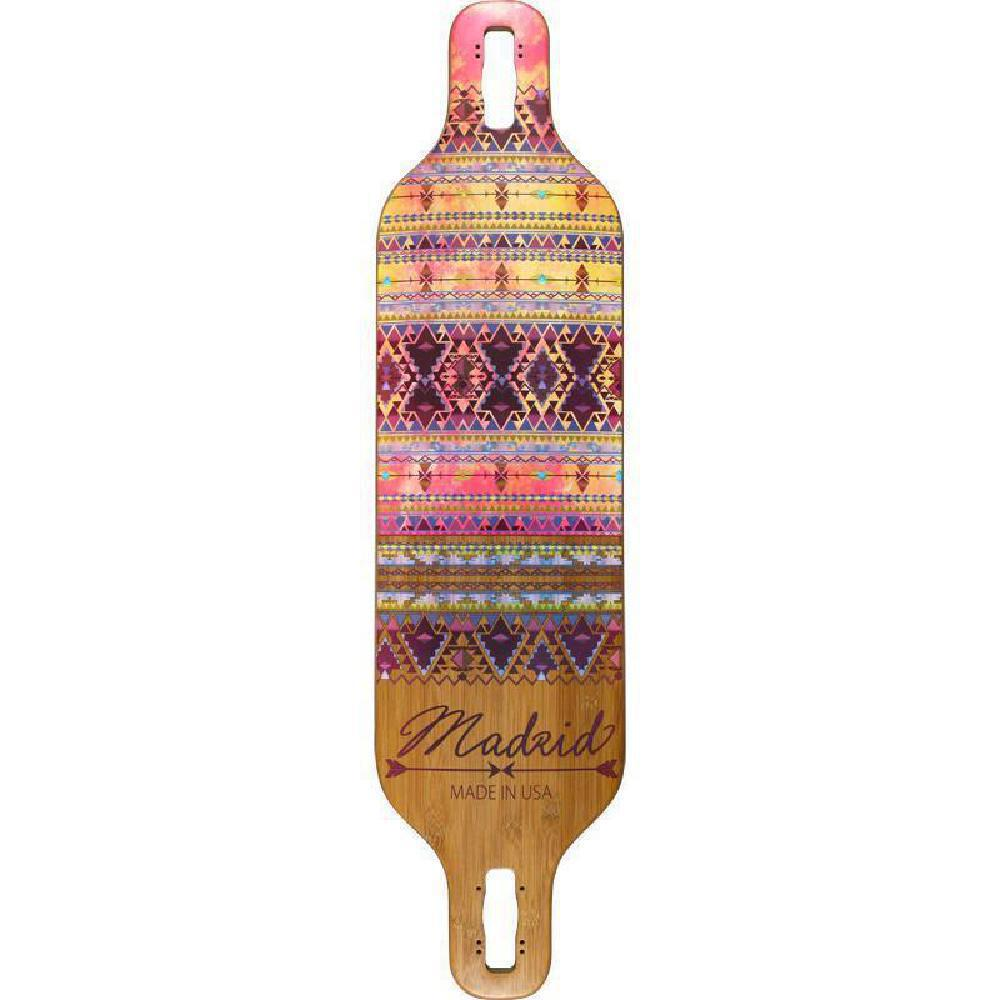 "Madrid Dream 39"" Indie Bamboo Drop-Thru Longboard Deck - Longboards USA"