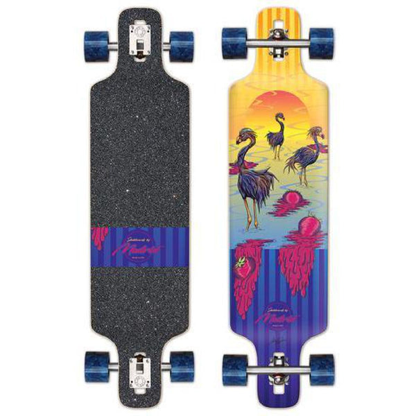 "Madrid DTF 39"" Flamingos Drop Through Longboard - Longboards USA"