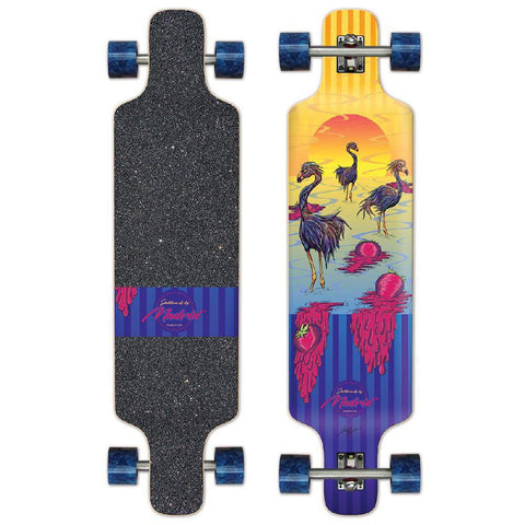 "Madrid DTF 39"" Flamingos Top Mount Longboard - Longboards USA"