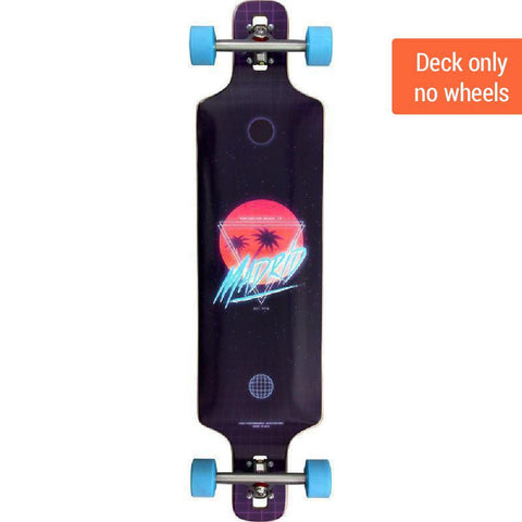"Madrid DTF 39"" Future Paradise Drop Through Longboard DECK ONLY - Longboards USA"