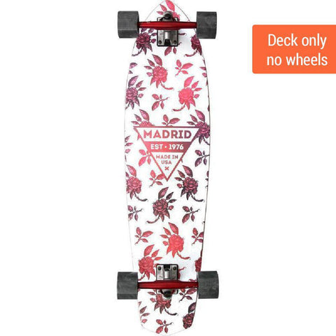"Madrid Dude 37.25"" Rosa Carver Longboard Deck ONLY - Longboards USA"