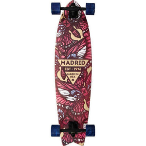 "Madrid Gun 37.75"" Flutter Fishtail Longboard - Longboards USA"