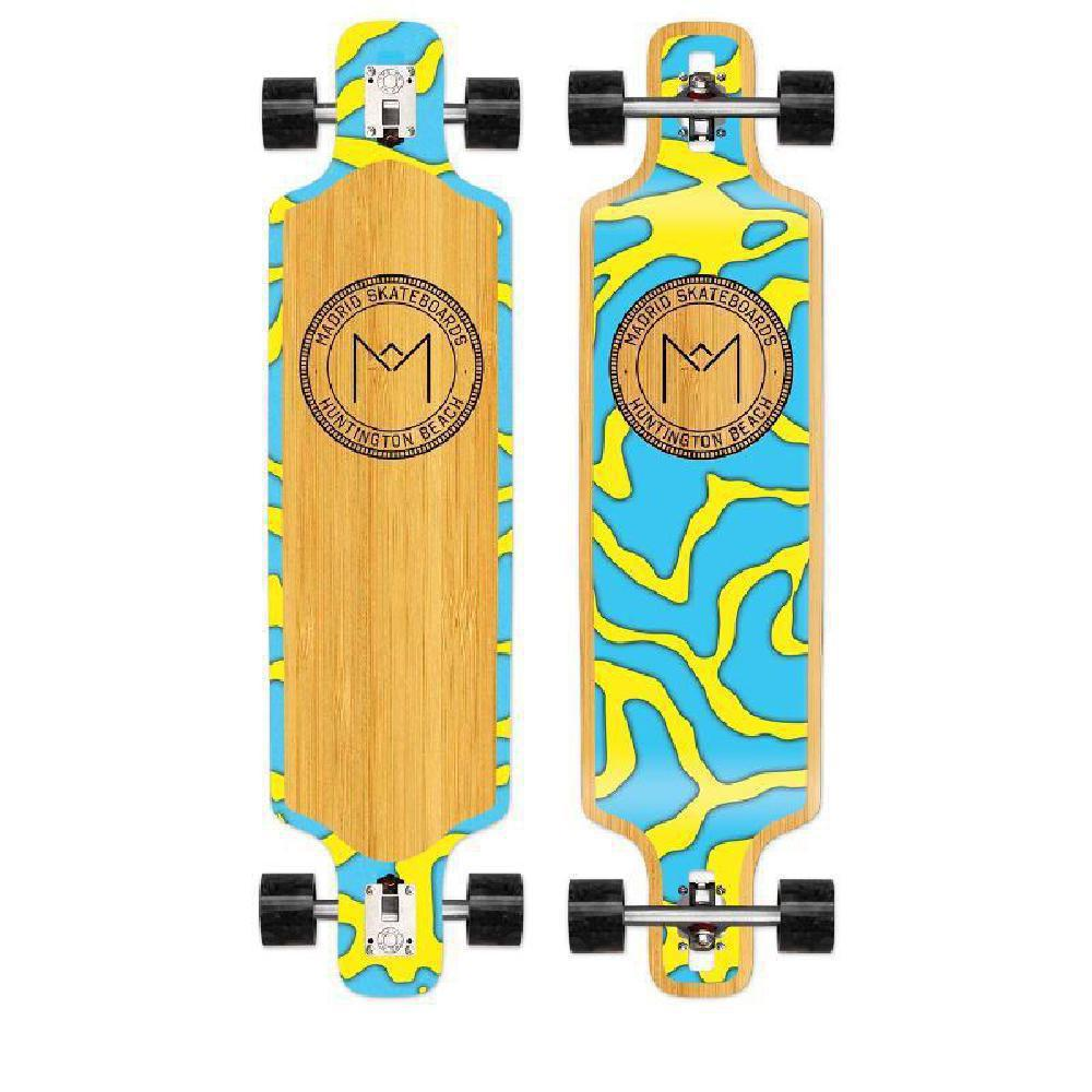 "Madrid Harbor Series DTF 39"" Bamboo Longboard - Longboards USA"
