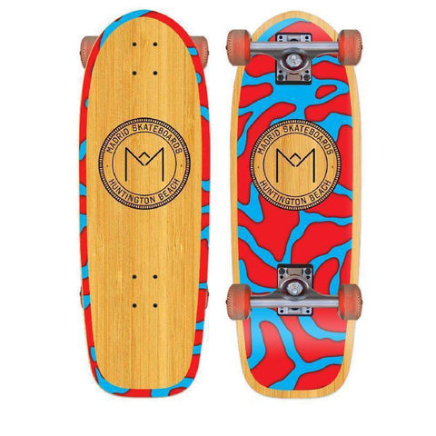 "Madrid Harbor Series Marty 29"" Bamboo Longboard - Longboards USA"