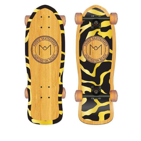 "Madrid Harbor Series Shamini 25"" Bamboo Longboard - Longboards USA"