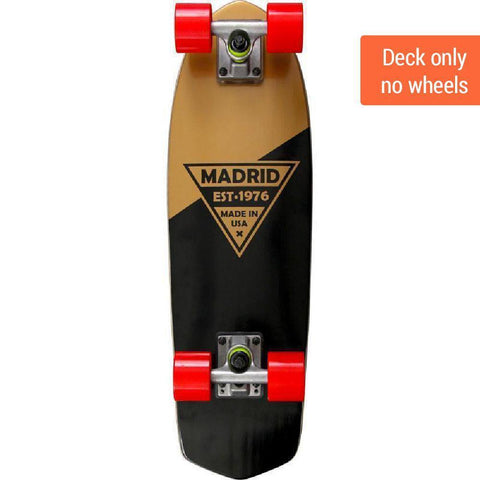 "Madrid Party 24"" Gold Cruiser Deck - Longboards USA"