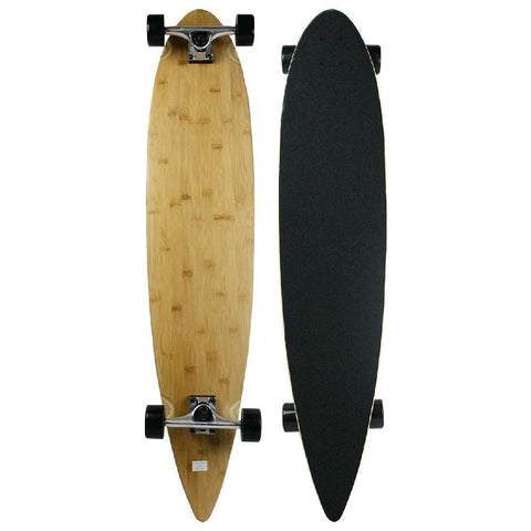 "Moose Bamboo Natural Pintail 43"" Longboard - Longboards USA"