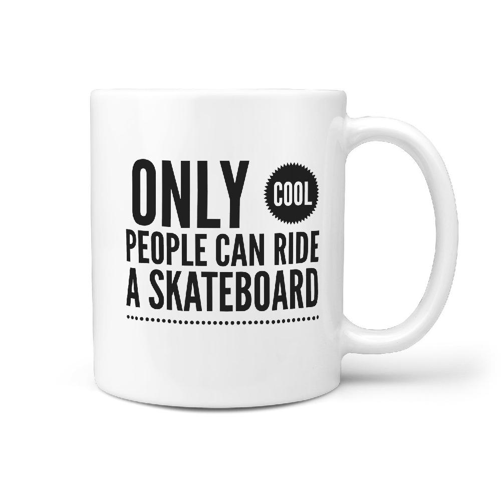 Only Cool People can Ride a Skateboard Coffee Mug - Longboards USA