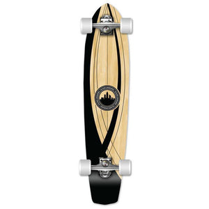 "Onyx 36"" Slimkick Longboard from Punked - Complete - Longboards USA"
