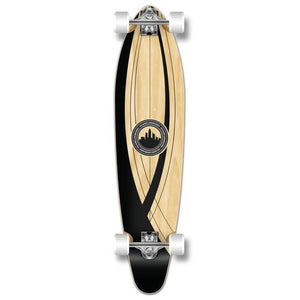 "Onyx 40"" Kicktail Longboard from Punked - Complete - Longboards USA"