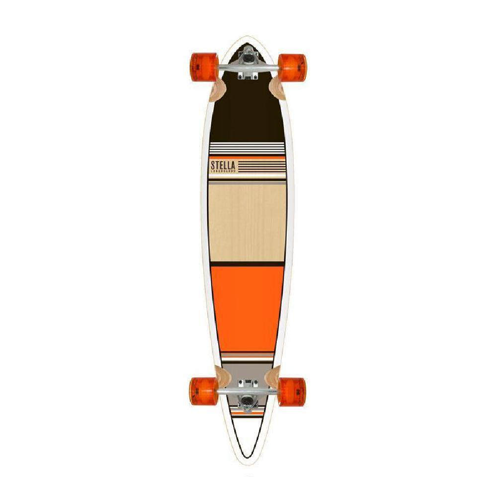 "Orange Classic 46"" Pintail Longboard Stella Longboards Complete - Longboards USA"