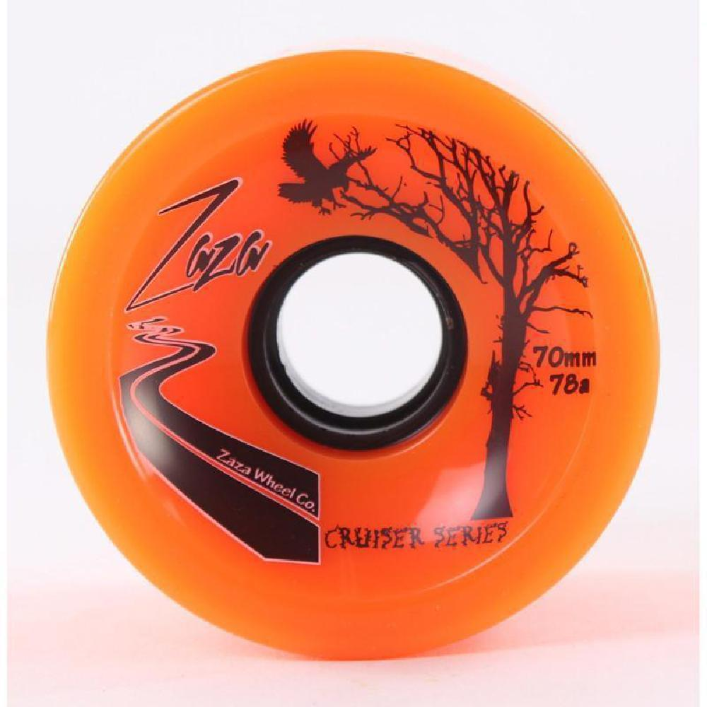 Orange Zaza Cruiser Longboard Wheels 70mm 78a - Longboards USA