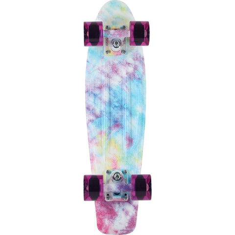 "Penny Board 22"" Cracked Dye Blue Tie Dye Skateboard - Longboards USA"