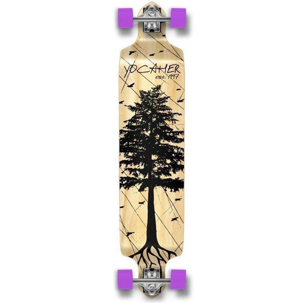 Pines Natural Drop Down Longboard 41 inches Complete - Longboards USA