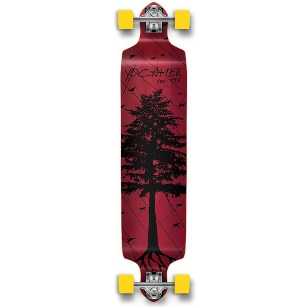 Pines Red Drop Down Longboard 41 inches Complete - Longboards USA