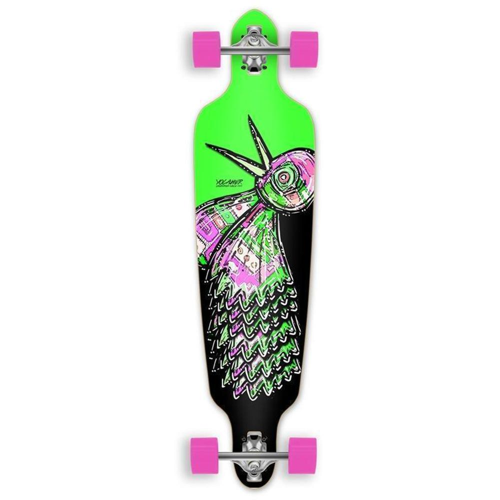 Punked Bird 40 inches Green Drop Through Longboard - Longboards USA