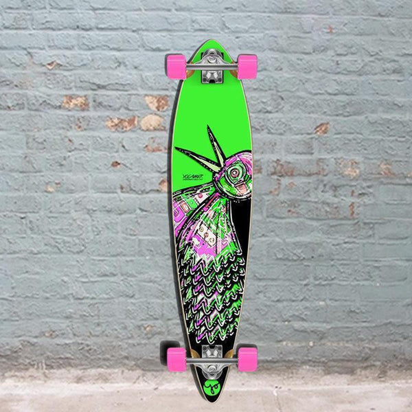 Punked Bird 40 inches Green Pintail Longboard - Longboards USA