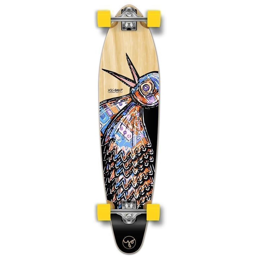 Punked Bird 40 inches Natural Kicktail Longboard - Longboards USA