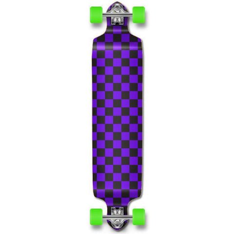 Punked Checker Purple Drop Down Downhill Longboard - Longboards USA