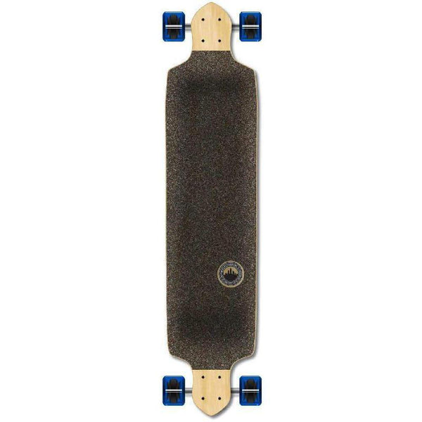 Punked Checkered Blue Drop Down Downhill Longboard - Longboards USA