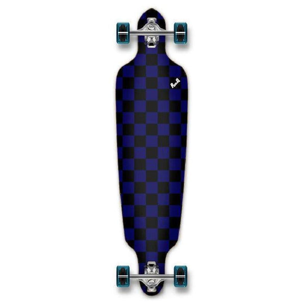 Punked Checkered Blue Drop Through Longboard - Longboards USA