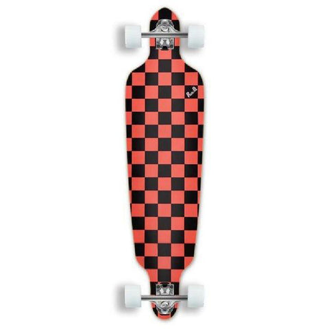 "Punked Checkered Orange Drop Through 41"" Longboard - Longboards USA"