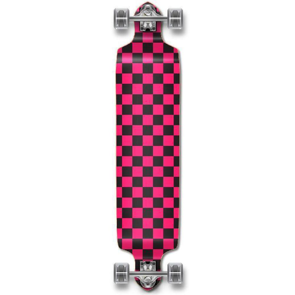 Punked Checkered Pink Drop Down Downhill Longboard - Longboards USA
