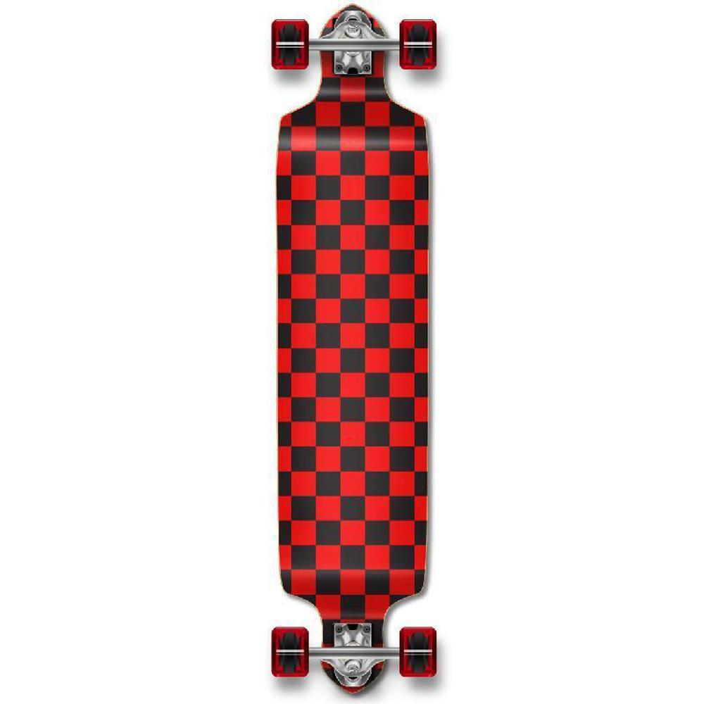 Punked Checkered Red Drop Down Downhill Longboard - Longboards USA