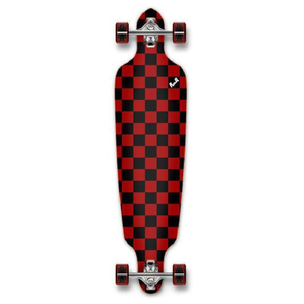 Punked Checkered Red Drop Through Longboard - Longboards USA