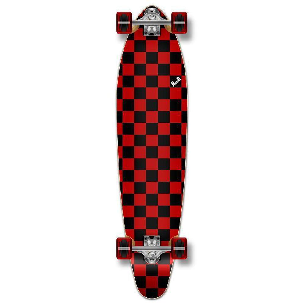 Punked Checkered Red Kicktail Longboard - Longboards USA