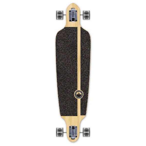 Punked Checkered Silver Drop Through Longboard - Longboards USA