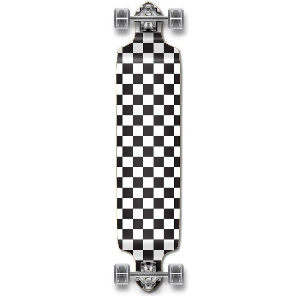 Punked Checkered White Drop Down Downhill Longboard - Longboards USA