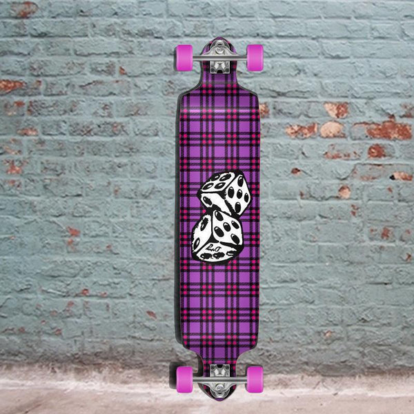 Punked Dice Drop Down Longboard 41 inches Complete - Longboards USA