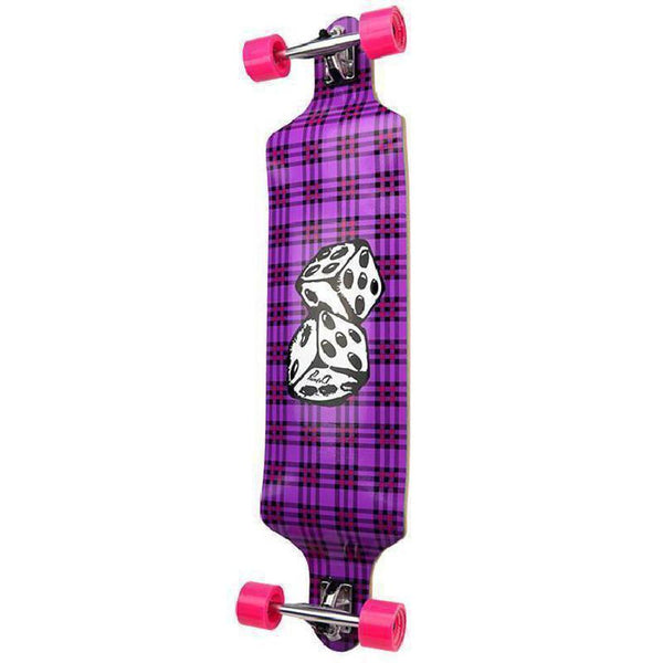 Punked Dice Drop Down Longboard 41 inches Complete-Longboards USA