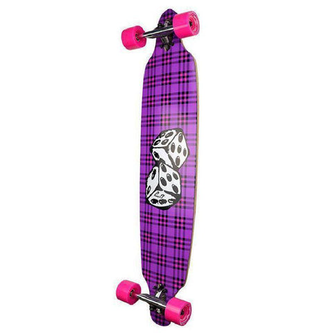 "Punked Dice Drop Through 40"" Longboard - Complete - Longboards USA"