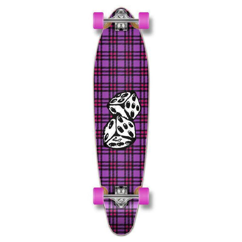 "Punked Dice Kicktail 40"" Longboard Complete - Longboards USA"