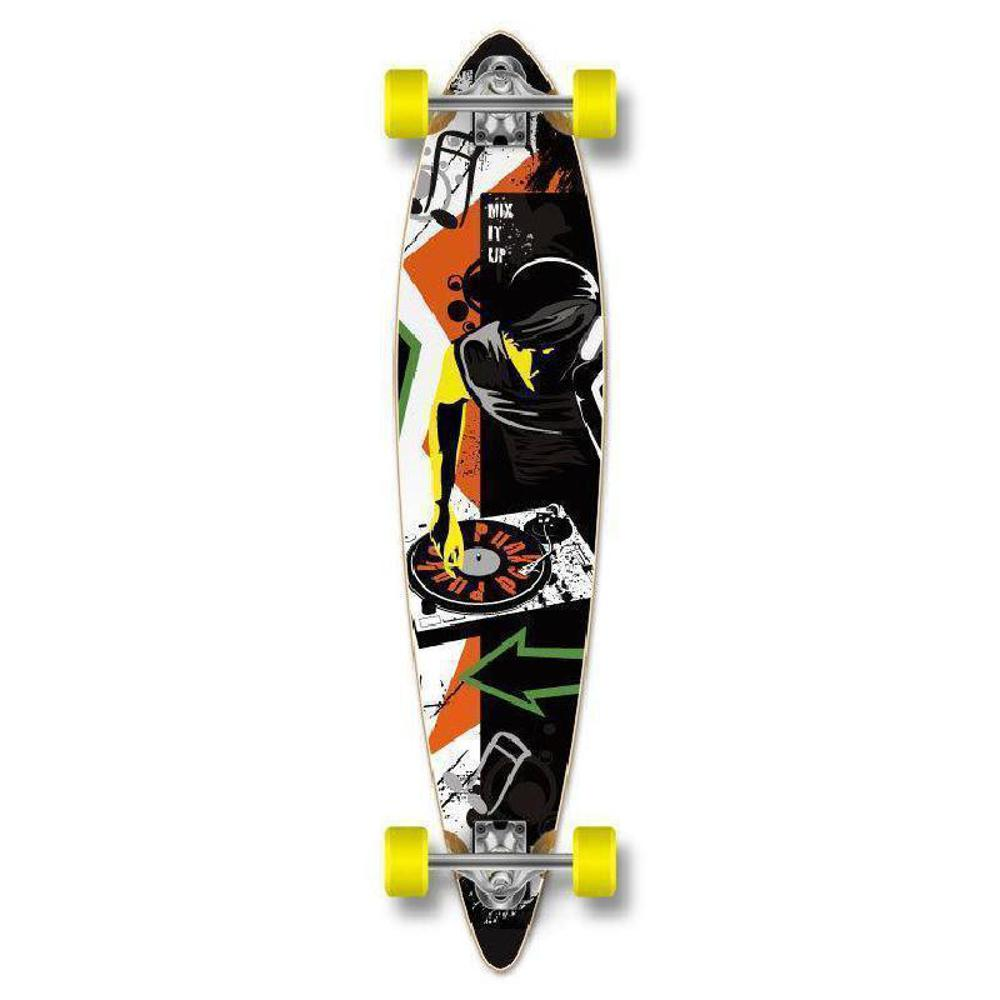 "Punked DJ Pintail 40"" Longboard - Complete - Longboards USA"