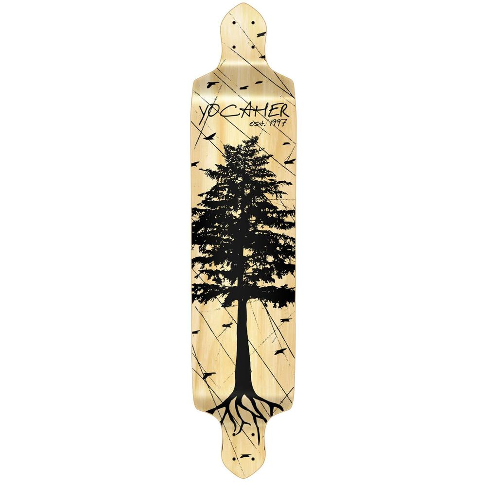 Punked Drop Down Longboard Deck - In the Pines : Natural - Longboards USA
