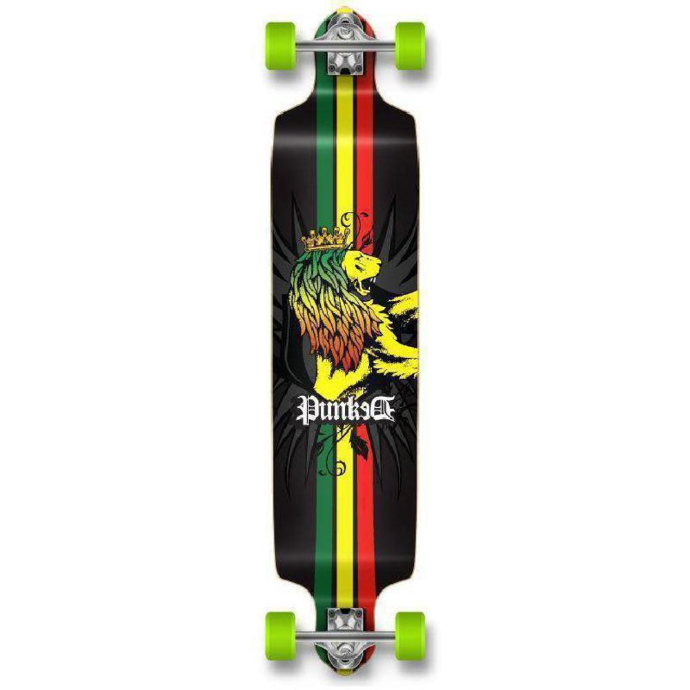 "Punked Drop Down Rasta 41"" Longboard Complete - Longboards USA"