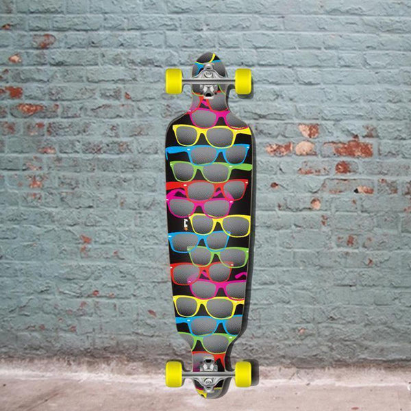 "Punked Drop Through 40"" Longboard - Shades - Complete - Longboards USA"