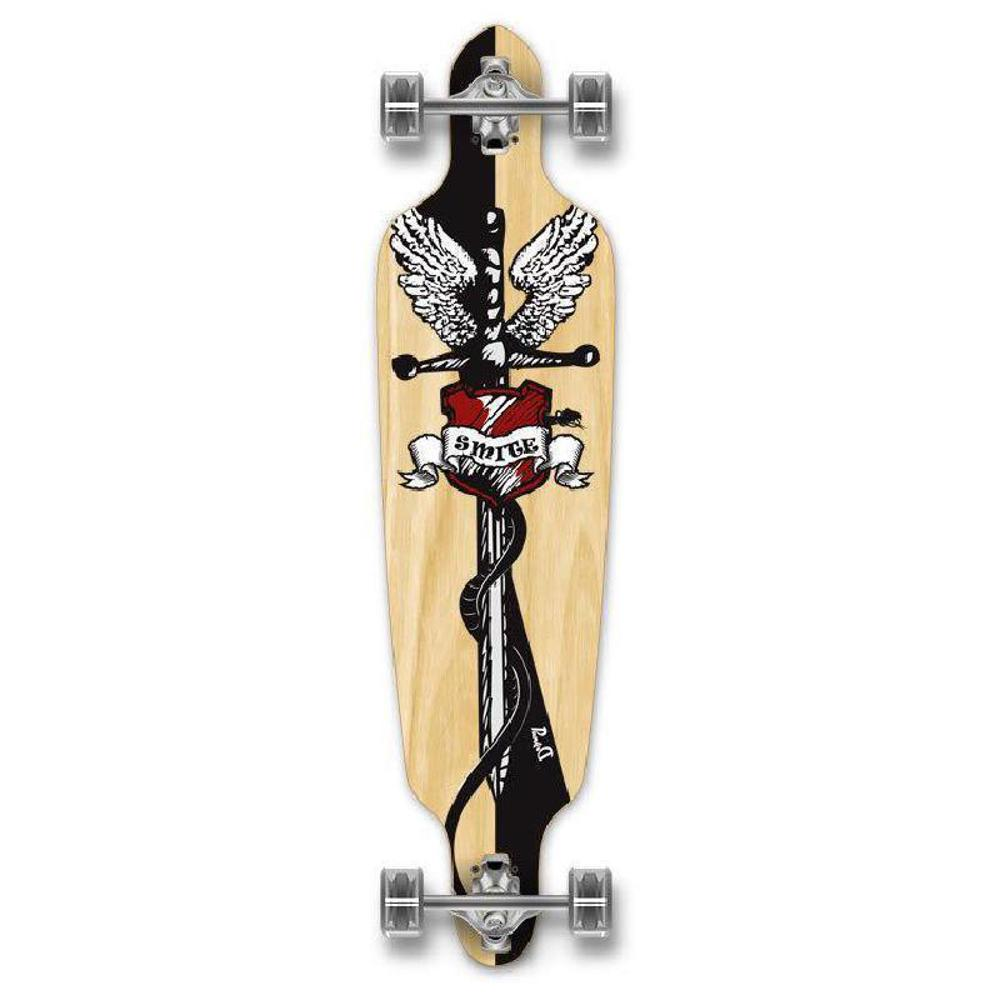 "Punked Drop Through 40"" Smite Longboard - Longboards USA"