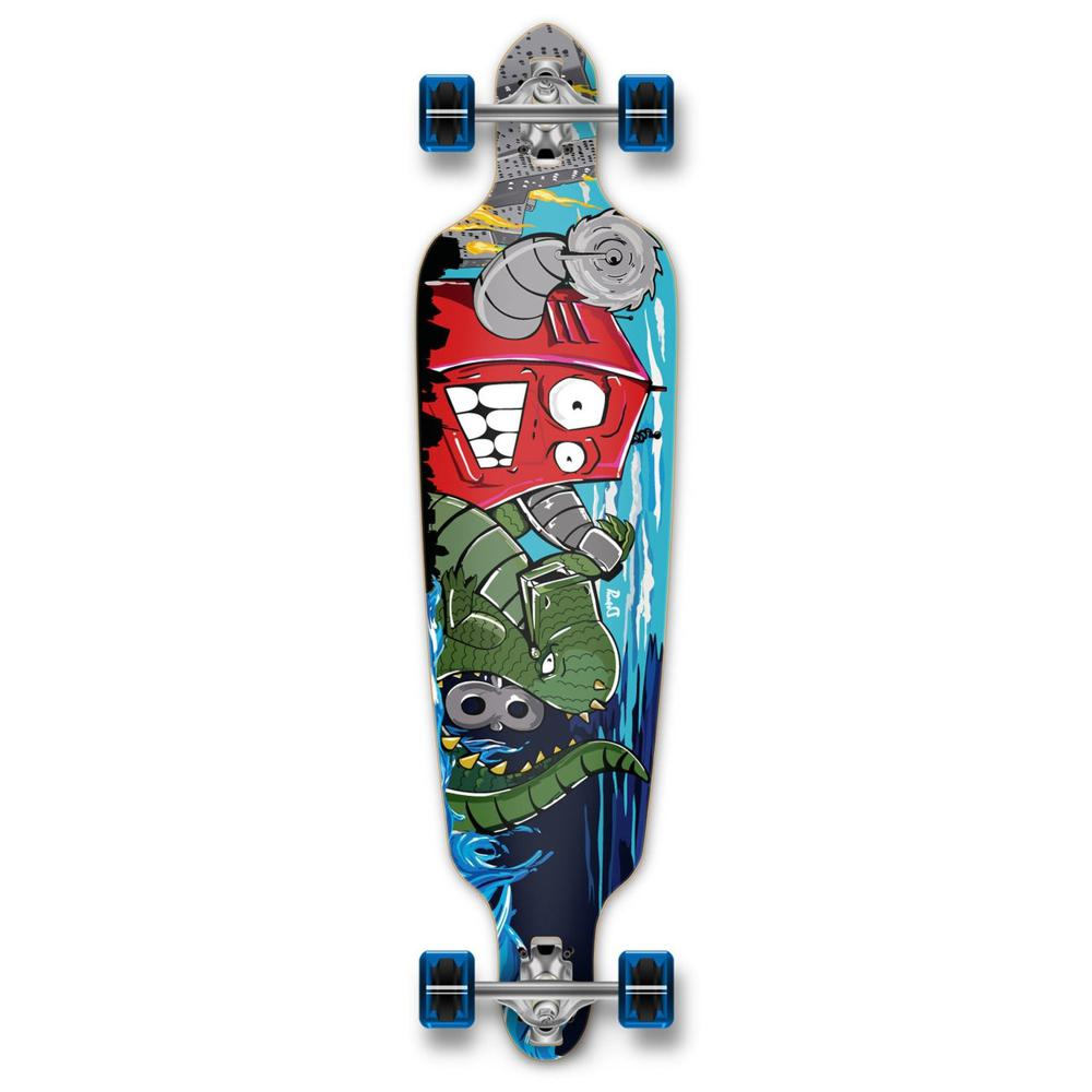 "Punked Drop Through Robot 40"" Longboard - Longboards USA"