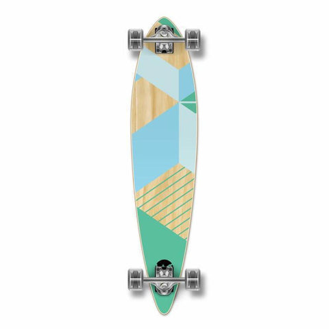 "Punked Geometric Green Pintail 40"" Longboard - Longboards USA"