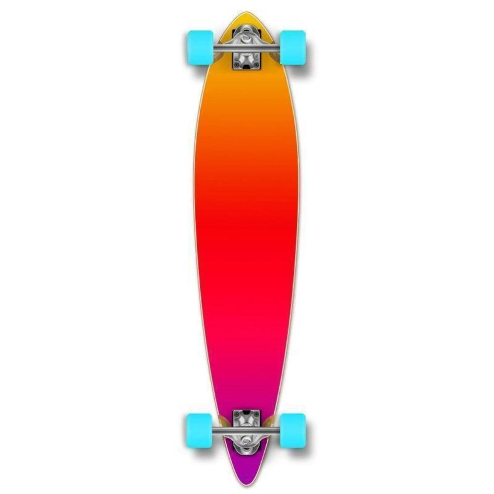 "Punked Gradient Pink Pintail 40"" Longboard - Longboards USA"