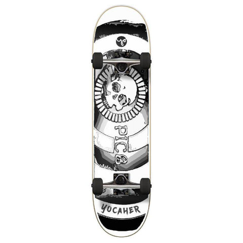 Punked Graphic Complete Skateboard 7.75 Inch - Micah Labatore - Death Do Us Part - Black - Longboards USA