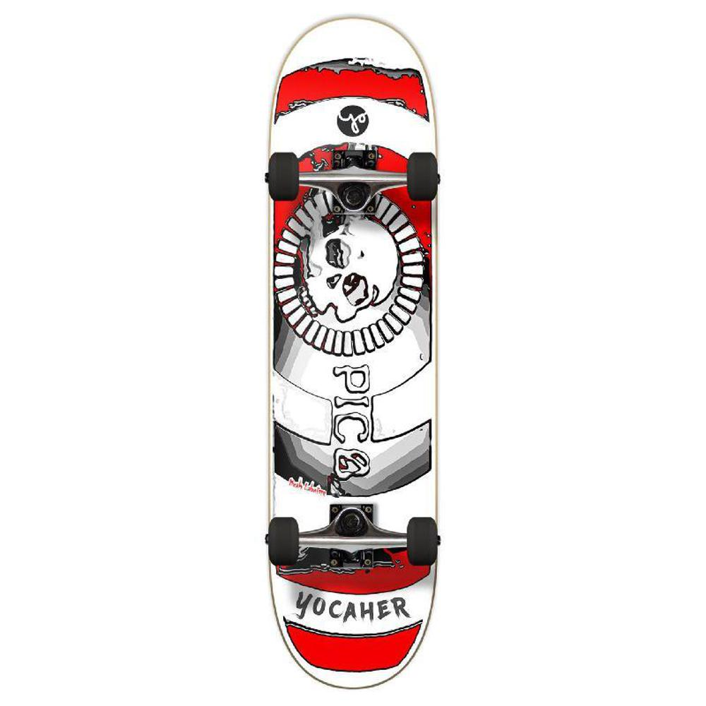 Punked Graphic Complete Skateboard 7.75 Inch - Micah Labatore - Death Do Us Part - Red - Longboards USA