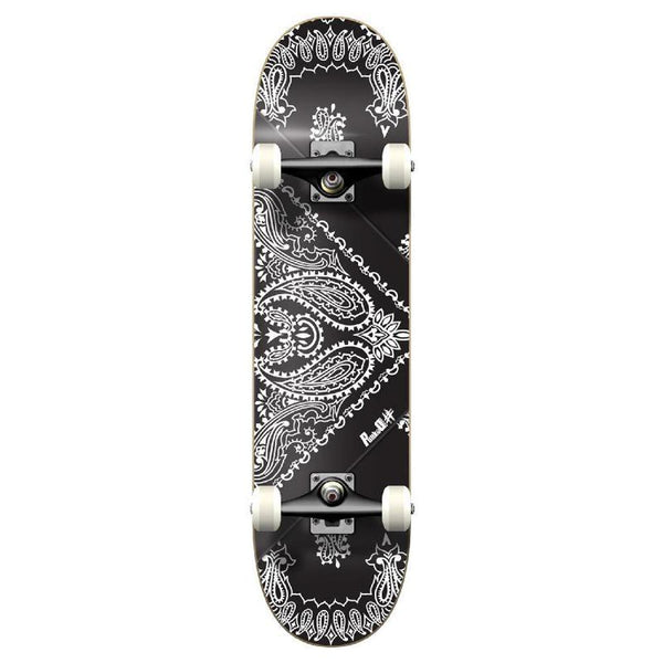 Punked Graphic Complete Skateboard - Bandana Black - Longboards USA