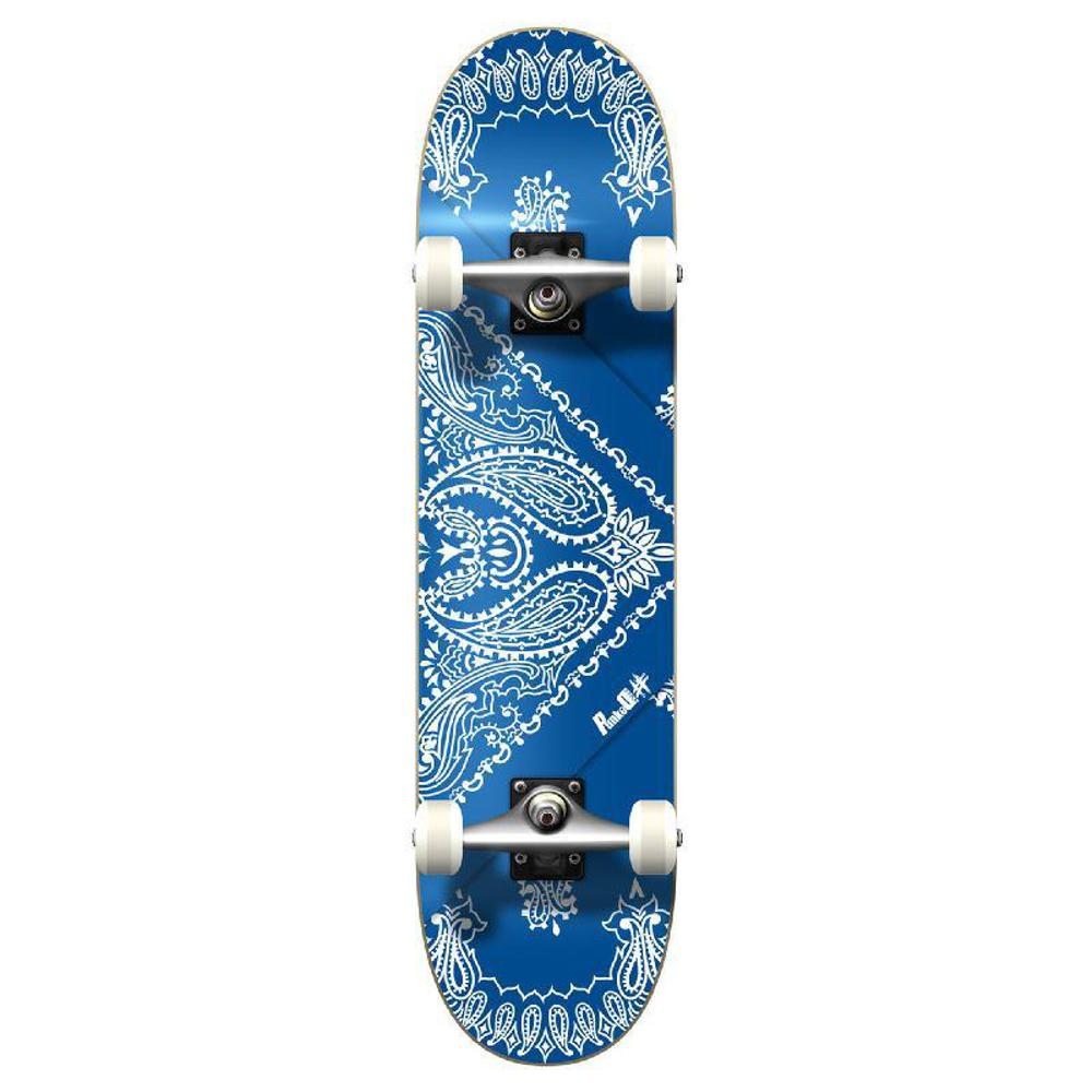 Punked Graphic Complete Skateboard - Bandana Blue - Longboards USA