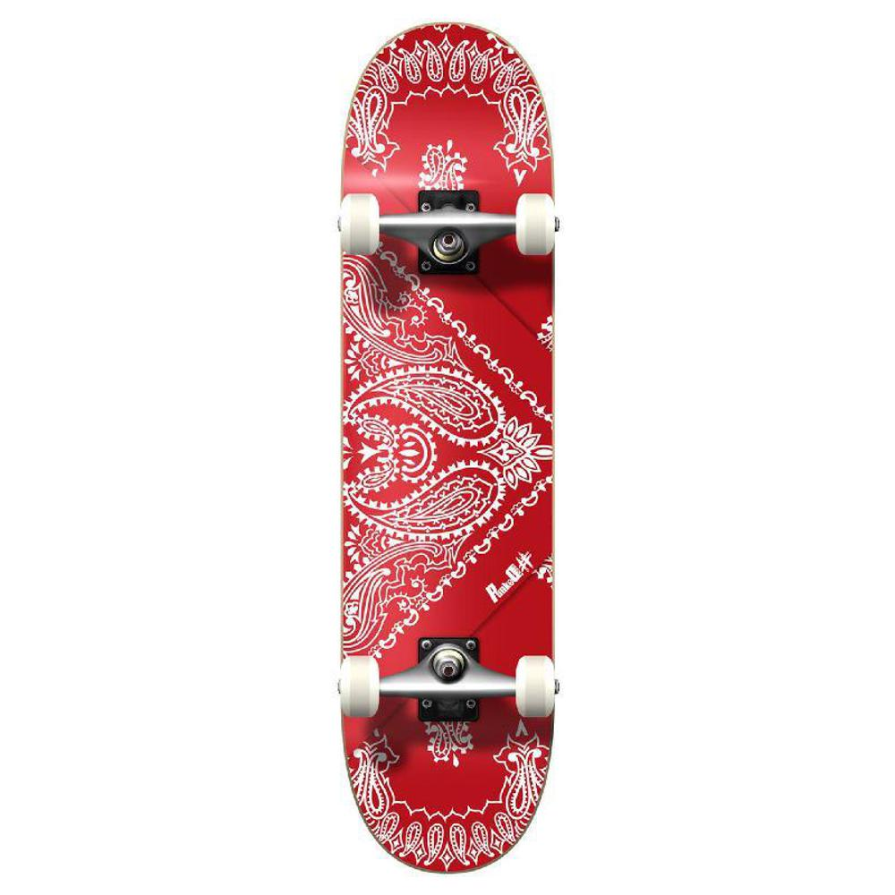 Punked Graphic Complete Skateboard - Bandana Red - Longboards USA